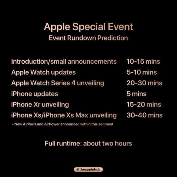 《2018年 苹果Apple秋季新品发布会在线直播地址,北京时间凌晨 1 点》