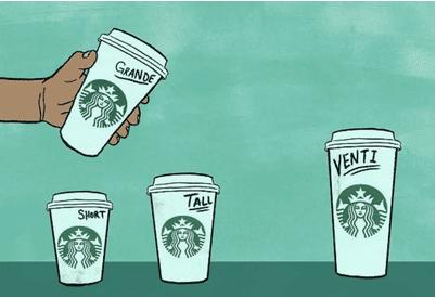 如何看破星巴克中杯、大杯、超大杯的营销逻辑